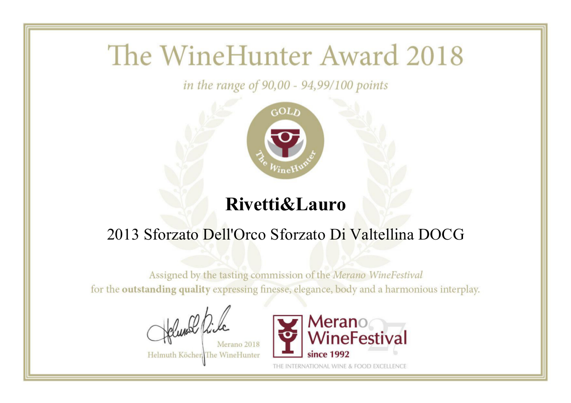 The Wine Hunter Award 2018